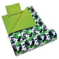 Wildkin 3-Piece Camo Sleeping Bag Set in Green