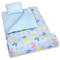 Olive Kids Butterfly Garden 3-Piece Sleeping Bag Set in Blue