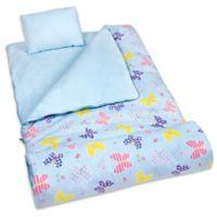 Olive Kids Butterfly Garden 3-Piece Sleeping Bag Set in Blue