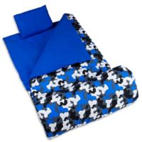 Wildkin 3-Piece Camo Sleeping Bag Set in Blue