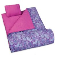 Wildkin 3-Piece Watercolor Ponies Sleeping Bag Set in Purple