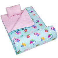 Olive Kids Wildkin Birdie 3-Piece Sleeping Bag Set in Pink