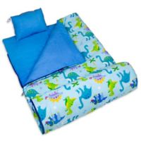 Olive Kids Wildkin Dinosaur Land 3-Piece Sleeping Bag Set in Blue