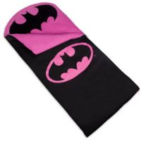 Wildkin 3-Piece Batman Emblem Sleeping Bag Set in Black/Pink
