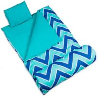 Wildkin 3-Piece Zig-Zag Sleeping Bag Set in Blue