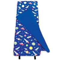 Wildkin 2-Piece Out of This World Roll-Up Nap Mat Set in Blue