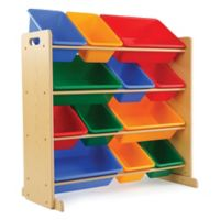 Tot Tutors Primary Color Toy Organizer in Natural