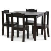 Tot Tutors 5-Piece Table and Chairs Set in Espresso
