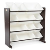 Tot Tutors Toy Organizer in Espresso/White