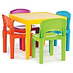 Tot Tutors Snap-Together 5-Piece Table and Chairs Set in Vibrant Multicolor