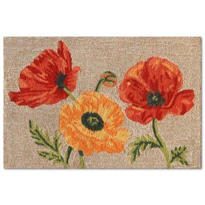 Buy poppy rug from bed bath beyond liorra manne ravella icelandic poppies 2 foot x 3 foot indooroutdoor accent mightylinksfo