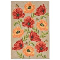 Liorra Manne Ravella Icelandic Poppies 7-Foot 6-Inch x 9-Foot 6-Inch Indoor/Outdoor Rug in Neutral