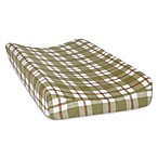 Trend Lab® Plaid Deluxe Flannel Changing Pad Cover in Green/Brown