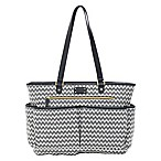 carter's® All The Time Chevron Tote Diaper Bag in Black/Ivory