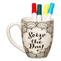 """Just Add Color™ """"Seize the Day"""" Coloring Mug"""