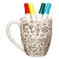 "Just Add Color™ ""Live Laugh Love"" Coloring Mug"