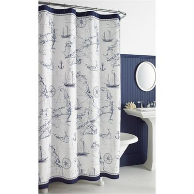 cape island 54inch x 78inch shower curtain
