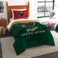 NHL Minnesota Wild Draft Twin Comforter Set