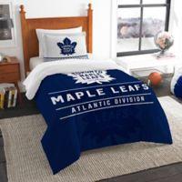 NHL Toronto Maple Leafs Draft Twin Comforter Set