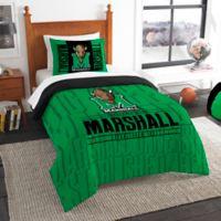 Marshall University Modern Take Twin Comforter Set
