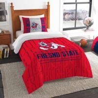 Fresno State Modern Take Twin Comforter Set