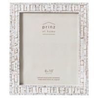 Prinz 8-Inch x 10-Inch Pallet Pieced Wood Frame in White