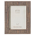 Prinz 5-Inch x 7-Inch Pallet Pieced Wood Frame in Grey