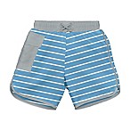 i play.® Striped Size 12M Ultimate Swim Diaper Pocket Board Shorts in Light Blue