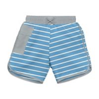 i play.® Striped Size 18M Ultimate Swim Diaper Pocket Board Shorts in Light Blue