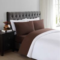Truly Soft Everyday 200-Thread-Count Queen Sheet Set in Brown