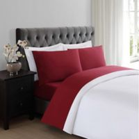 Truly Soft Everyday 200-Thread-Count Twin Sheet Set in Burgundy