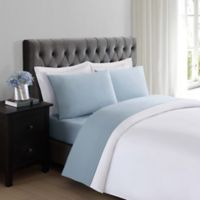 Truly Soft Everyday 200-Thread-Count Queen Sheet Set in Light Blue