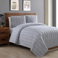 Seedlings by ThomasPaul® Rope Twin Quilt Set in Grey