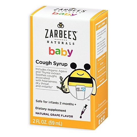 Zarbee S 174 2 Oz Naturals Baby Cough Syrup In Natural Grape