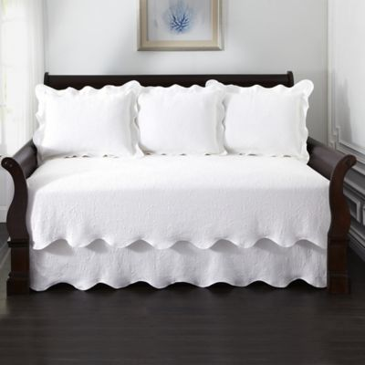Lyon Matelass  Daybed Bedding Set in White. Buy Quilted Daybed Bedding from Bed Bath   Beyond