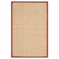 Safavieh Natural Fiber Johanna 2-Foot x 3-Foot Accent Rug in Natural/Red
