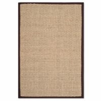 Safavieh Natural Fiber Johanna 2-Foot 6-Inch x 4-Foot Accent Rug in Natural/Dark Brown