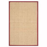 Safavieh Natural Fiber Johanna 3-Foot x 5-Foot Area Rug in Natural/Red
