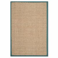 Safavieh Natural Fiber Johanna 4-Foot x 6-Foot Area Rug in Natural/Light Blue