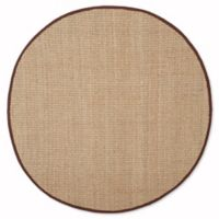 Safavieh Natural Fiber Johanna 6-Foot Round Rug in Natural/Dark Brown