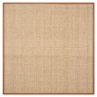 Safavieh Natural Fiber Johanna 6-Foot Square Area Rug in Natural/Brown