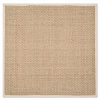 Safavieh Natural Fiber Johanna 8-Foot Square Area Rug in Natural/Ivory