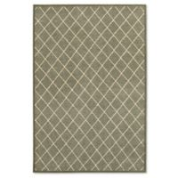 Oriental Weavers Ellerson Trellis 3-Foot 10-Inch x 5-Foot 5-Inch Area Rug in Grey