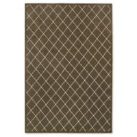 Oriental Weavers Ellerson Trellis 3-Foot 10-inch x 5-Foot 5-Inch Area Rug in Brown