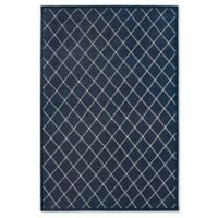 Oriental Weavers Ellerson Trellis 3-Foot 10-Inch x 5-Foot 5-Inch Area Rug in Navy