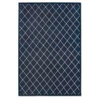 Oriental Weavers Ellerson Trellis 5-Foot 3-Inch x 7-Foot 6-Inch Area Rug in Navy