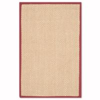 Safavieh Natural Fiber Willow 4-Foot x 6-Foot Area Rug in Maize/Burgundy