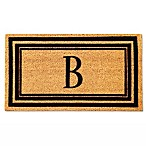 Flocked Monogram Letter  B  Door Mat Insert in Black
