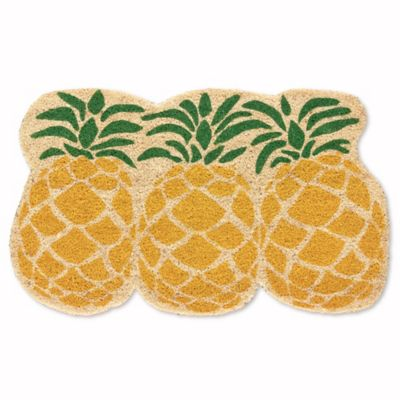 Mohawk Home Import Mats 28 18 Shaped Pineapple Shaped Pineapple Yellow