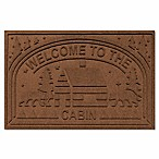 Weather Guard™ Welcome Cabin Floor Mat in Dark Brown